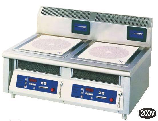 電磁調理器2連卓上タイプ MIR-1055T【代引き不可】【焜炉】【熱炉】【電磁誘導】【業務用】