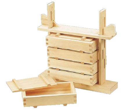 木製 押し寿司 5段セット(桧材)【握り型】【ライスプレス】【飯型】【業務用】