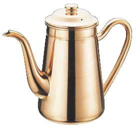 銅 無地コーヒーポット 1500cc #13 【珈琲ポット 珈琲用品】【喫茶用品】【コーヒーマシン コーヒー用品】【業務用】