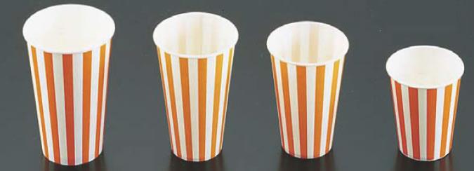 紙コップ(コールド用)SCM-400 ストライプ (1400入) 【サービス用品 フリードリンク】【紙コップ プラスチックカップ】【軽食】【スナック包材 使い捨て容器】【ドリンク用品】【業務用】