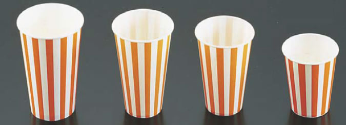 紙コップ(コールド用)SCM-360 ストライプ (1400入) 【サービス用品 フリードリンク】【紙コップ プラスチックカップ】【軽食】【スナック包材 使い捨て容器】【ドリンク用品】【業務用】