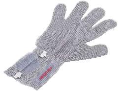 ニロフレックス2000メッシュ手袋5本指(片手) C-L5-NVショートカフ付【代引き不可】【金属メッシュ手袋】【niroflex】【防刃】【特殊手袋】【業務用】