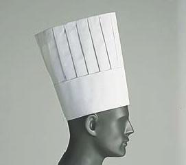 ロンドン シェフトック シェフハット A85110(50枚入)【帽子】【白衣 ユニフォーム 作業着】【コック帽】【飲食店用】【業務用】