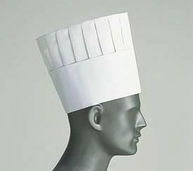 ロンドン プリーツトック シェフハット A82110(50枚入)【帽子】【白衣 ユニフォーム 作業着】【コック帽】【飲食店用】【業務用】