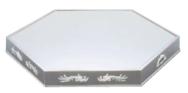 UK18-8六角型ミラープレート 20インチ (アクリル)鳳凰【代引き不可】【バイキング】【ビュッフェ】【バンケットウェア】【皿】【装飾台】【18-8ステンレス】【業務用】