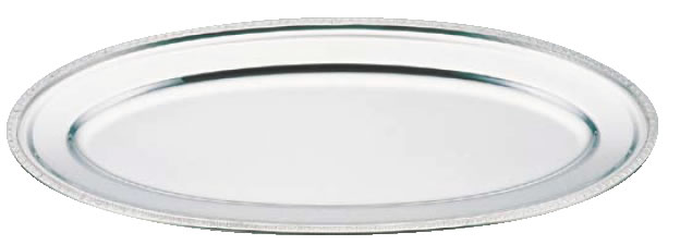 UK18-8菊渕魚皿 26インチ【バイキング ビュッフェ】【バンケットウェア】【皿】【18-8ステンレス】【業務用】