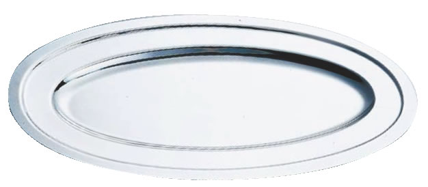 SW18-8プレーン魚皿 22インチ【バイキング ビュッフェ】【バンケットウェア】【皿】【18-8ステンレス】【業務用】