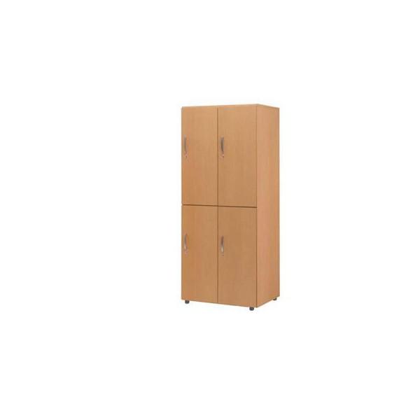木製フリージョイントロッカー 2段4人用 08W【代引不可】【ロッカー】【業務用】