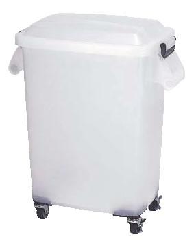 厨房ペール 半透明(キャスター付) CK-70N ナチュラル 【ごみ箱】【リサイクルボックス】【ダストボックス】【ペール】【業務用】