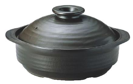 IHサーマテック土鍋 ブラック 10号 ME107 【IH 電磁調理器対応】【料理演出用品】【和食卓上鍋 鍋用小物】【業務用】