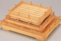 萩盛込器 (大)【代引き不可】【盛込器】【料亭に】【盛器】【木製】【白木】【1-735-17】