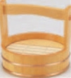 両手桶 (本体・スノ子付) 7寸【盛込器】【桶】【木製】【1-741-14】