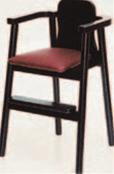 木製ハイチェアー 黒【代引き不可】【椅子】【イス】【子供イス】【子供用椅子】【A-2-52】