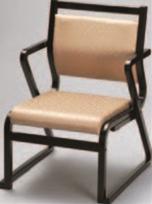 肘かけ付椅子 ベージュ(布)【代引き不可】【椅子】【座椅子】【イス】【和室椅子】【旅館に】【料亭に】【A-3-51】