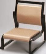 新低型高椅子 27H ベージュ(布)【代引き不可】【椅子】【座椅子】【イス】【和室椅子】【旅館に】【料亭に】【A-3-57】