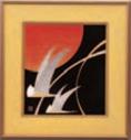 パネル 折鶴【客室用品】【インテリア】【和室用】【額縁】【絵画】【1-820-1】