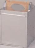 アルミ出前箱 縦型 2段【出前】【おかもち】【岡持ち】【出前箱】【デリバリー】【1-1001-1】