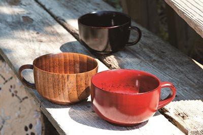 ■3コセット■木製スープカップ(根来)■3コセット■