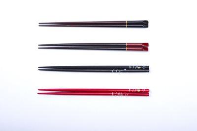 ■30コセット■天削木箸塗分(黒)■30コセット■