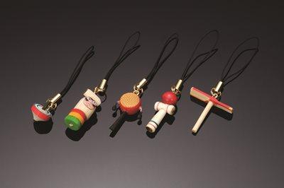 ■30コセット■おもちゃ携帯ストラップ(でんでん太鼓)■30コセット■