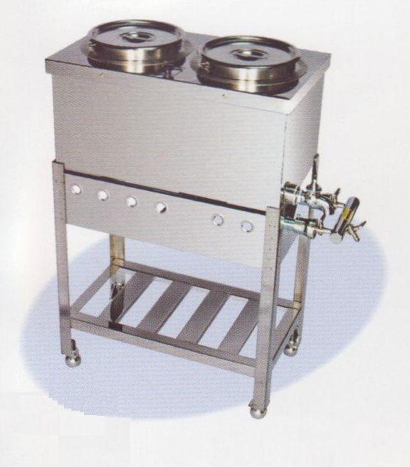 【送料無料】新品!台付湯煎器 2ツ穴 [厨房一番]