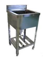 業務用厨房機器 【送料無料】オリジナルブランド! BOTTA(ボッタ) 1槽シンク 450*450*800 BS-445