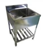 業務用厨房機器 送料無料 秀逸 オリジナルブランド BOTTA ボッタ BS-460 600 1槽シンク 450 オリジナル 800