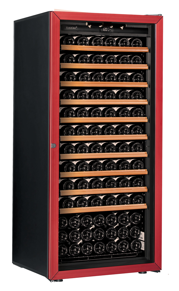 【送料無料】新品!ユーロカーブ(EUROCAVE) ワインセラー (355L・140本) Premiere-M-C-PTHF(赤)