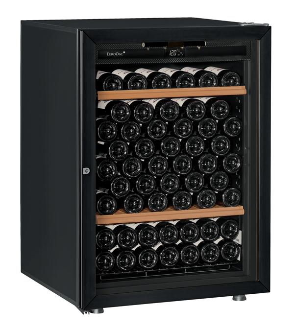 【送料無料】新品!ユーロカーブ(EUROCAVE) ワインセラー (225L・92本) Premiere-S-T-PTHF(黒)