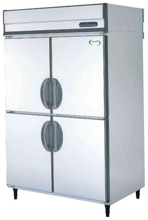 【送料無料】新品!フクシマ 4枚扉冷蔵庫インバーター ARD-120RM[厨房一番]