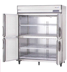 【送料無料】新品!フクシマ 4枚扉 冷蔵庫 URD-150RM6-F[厨房一番]