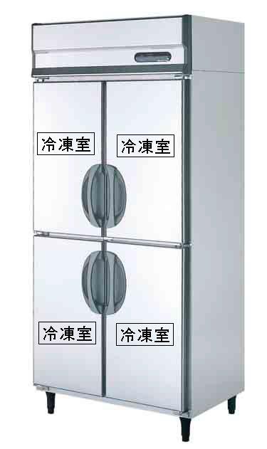 【送料無料】新品!フクシマ 4枚扉冷凍庫 URD-094FM6[厨房一番]