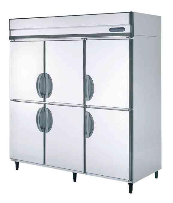 【送料無料】新品!フクシマ 6枚扉冷蔵庫 (200V)URD-180RMD6[厨房一番]