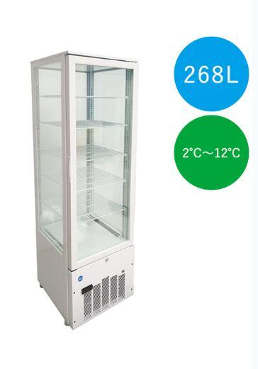 【送料無料】新品!ジェーシーエム/JCM 4面ガラス冷蔵ショーケース(片面扉)【JCMS-268】[厨房1番]