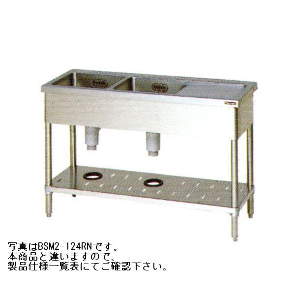 業務用 2槽シンク マルゼン W1800×D600×H800 最安値 新品 水切付BSM2-186LN幅1800×奥行600×高さ800流し台 ステンレス シンク業務用 シンク 流し台 待望 厨房