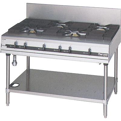 【送料無料】新品!マルゼン パワークックガステーブル(4口) MGTXS-127 [厨房一番]