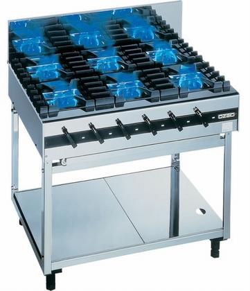 【送料無料】新品!オザキ ガステーブル(6口) 5000バーナシリーズ W900*D600*H800(mm) OZ90-60D5×6 [厨房一番]