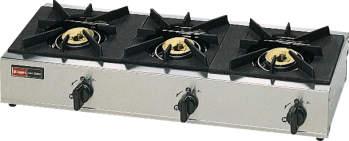 【送料無料】新品!リンナイ 3口卓上ガスコンロ スタンダードタイプ RSB-306A [厨房一番]