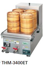 【送料無料】新品!タニコー 卓上電気蒸し器W350*D370*H330 THM-3400ET [厨房一番]