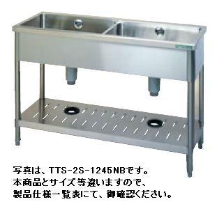 【送料無料】新品!タニコー二槽シンク(バックガードなし)W1000*D450*H850TA-2S-1045NB[厨房一番]