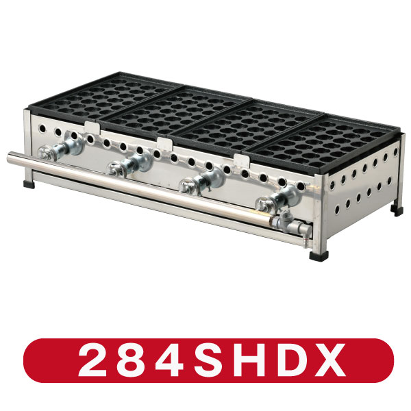 たこ焼のベストセラー機 新製品 IKK業務用たこ焼き器28穴×4連 国内正規品 引出付 代引 タイムセール 鉄鋳物 284SHDX 送料無料