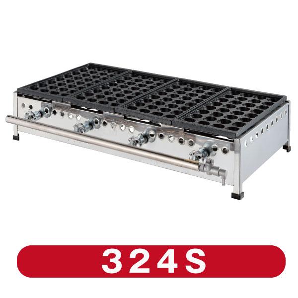 ジャンボ32穴 タップリ入る大容量タイプ IKK業務用たこ焼き器32穴×4連 定価の67%OFF 送料無料 激安卸販売新品 鉄鋳物 324S