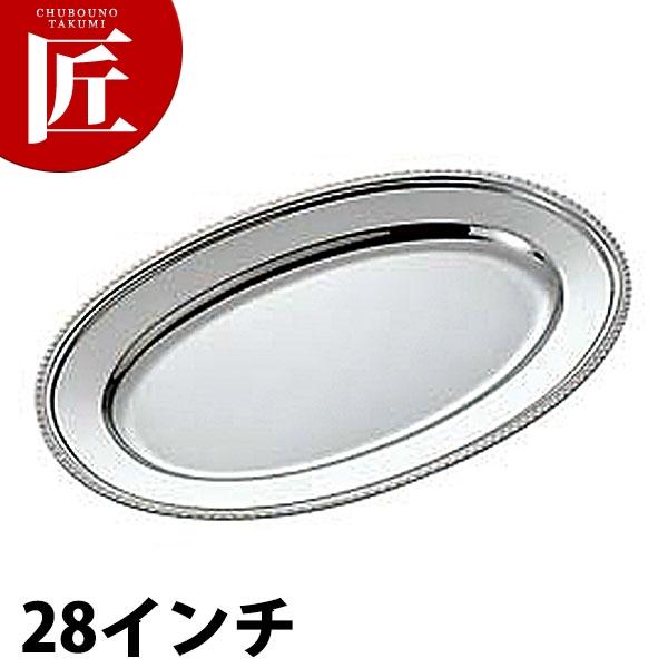 UK 18-8 菊渕 小判皿 [28インチ] 【kmaa】