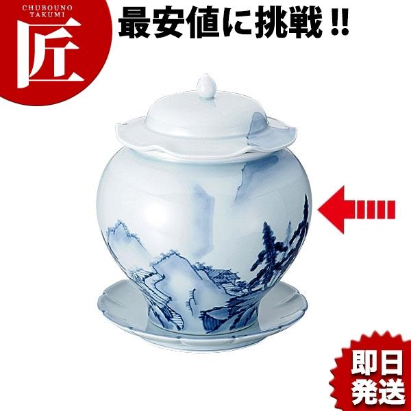 青磁 山水 仏跳壇 中 業務用 あす楽対応 【ctss】