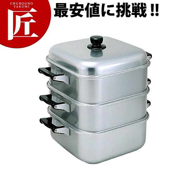 送料無料 アルマイト 角蒸器 二重 28cm 【ctss】 角蒸器 蒸し器 角蒸し器 蒸し鍋 アルミ 業務用 領収書対応可能