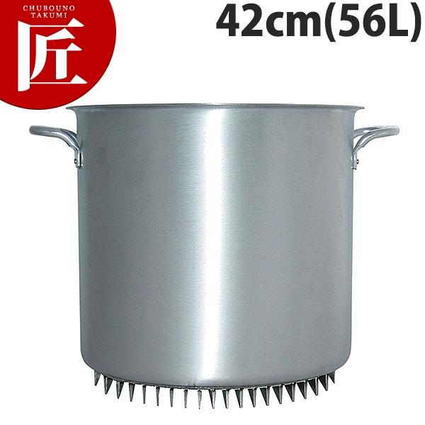エコライン 寸胴鍋 蓋無し 42cm 56L アルミ 日本製【N】