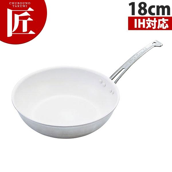 キングフロン スノーホワイトフライパン(深型) 18cm IH対応 【N】