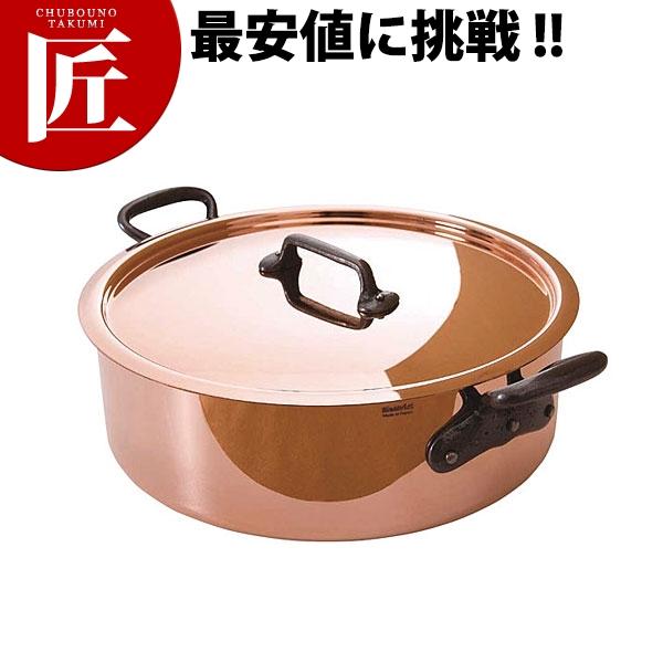 純銅製 外輪鍋 28cm 蓋付【N】