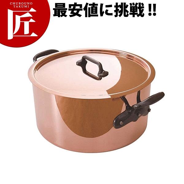 純銅製 半寸胴鍋 24cm蓋付【N】