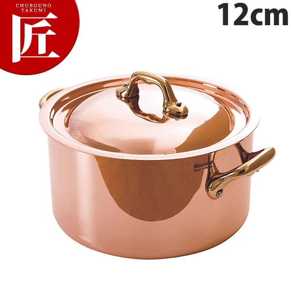 純銅製 半寸胴鍋 12cm蓋付【N】